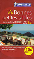 Bonnes petites tables du guide Michelin 2013, 632 restaurants