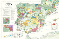 Affiche Wine Map of Spain & Portugal