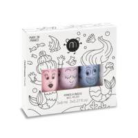 Coffret de 3 vernis à l'eau 8ml Bella Elliot Merlin