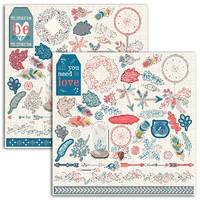 Stickers 15*15 hygge rouge