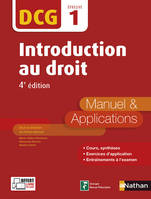 DCG 1 - Introduction au Droit - 4e édition