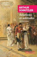 Relations et solitudes / aphorismes