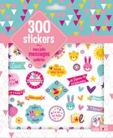 300 stickers mes jolis messages - pochette d'autocollants pailletés