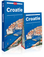 Croatie / 3 en 1 : guide, atlas, carte laminée