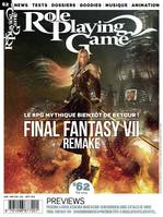 Role Playing Game nº62 juillet/septembre 2019