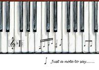 Carte postale - Piano Keys Design