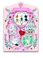 Coffret Bijoux 5 Badges Chats Lucille