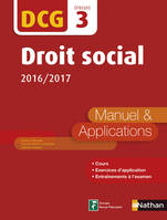 Droit social - DCG 3 - Manuel et applications, Format : ePub 2
