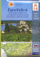CR EUROVELO 6 lot 6 cartes sous blister