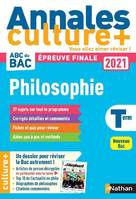 Annales Bac 2021 Philosophie - Culture +