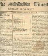 THE TIMES, LITERARY SUPPLEMENT, 13th YEAR, JAN.-DEC. 1914 (Contents of n° 624: hans Christian Andersen. Colonial Problems. The hight Tide of Travel. The Campagna. The Year's Literature. The Man With the Hoe. Scarps of Paper. The Poison People...)