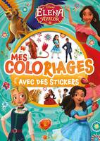 ELENA D'AVALOR - Mes Coloriages avec Stickers - Disney