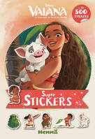Disney Vaiana - Super stickers ! (Fond orange)