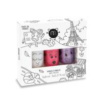 Coffret de 3 vernis à l'eau 8ml Super Kitty Piglou