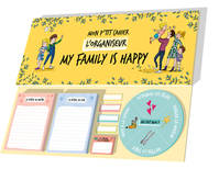 Organiseur-Mon p'tit cahier-My family is happy
