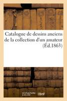 Catalogue de dessins anciens de la collection d'un amateur