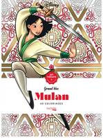 Grand bloc Art-Thérapie Disney Mulan, 60 coloriages