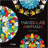Black coloriage - Mandalas Animaux