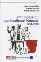 ANTHOLOGIE DU SYNDICALISME FRANCAIS