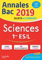 Annales Bac 2019 Sciences 1ères ES/L