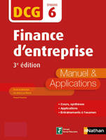 Finance d'entreprise - DCG 6 - Manuel et applications, Format : ePub 3