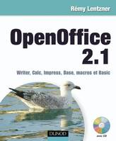 OpenOffice 2.1, Writer, Calc, Impress, Base, macros et Basic