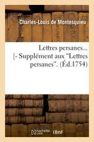 Lettres persanes. Tome 1 (Éd.1754)