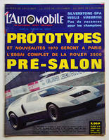 L'AUTOMOBILE n° 280 septembre 1969, Prototypes 1970, Rover 3500