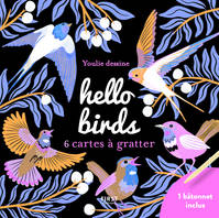 Cartes à gratter mini - Hello birds