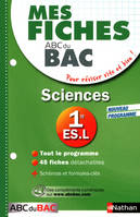 Mes Fiches ABC du BAC Sciences 1re ES.L