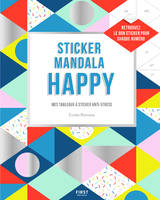 Sticker mandala happy