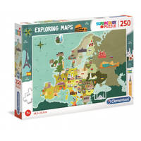 Europe Geo Maps puzzle 250 pièces  Supercolor