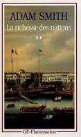 LA RICHESSE DES NATIONS  T2, Volume 2