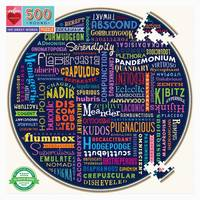 Puzzle - Rond - 500 pièces - 100 Great Words