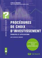 PROCEDURES DE CHOIX D'INVESTISSEMENT, principes et applications
