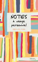 Notes à usage personnel
