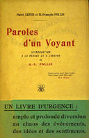 Paroles d'un voyant, introduction à la pensée et à l'œuvre de  H. L. Follin.