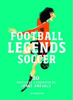 Football Legends - Postcard Book