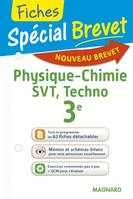 Sciences 3e / physique chimie, SVT, techno