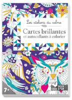Cartes brillantes à colorier, et autocollants