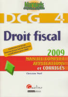 4, Droit fiscal - DCG 4 2è ed., manuel complet, applications et corrigés