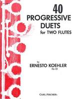 40 PROGRESSIVE DUETS FOR TWO FLUTES FLUTE TRAVERSIERE