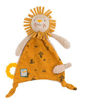 Doudou attache tétine lion