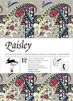 Gift & creative papers : 12 large sheets of high-quality paper, Paisley / volumen 38