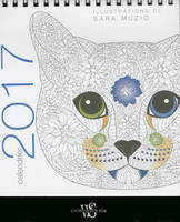 Chats coloriage / calendrier de table 2017
