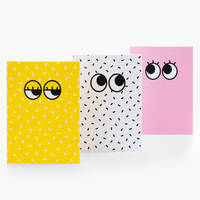 Yeux Googly Notebook sachet de 3 blocs A6 10 x 15