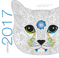 Calendrier mural / chats coloriage 2017
