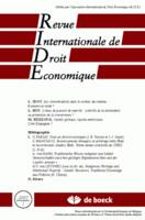 REVUE INTERNATIONALE DE DROIT ECONOMIQUE 2005/1