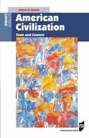 American Civilization, Texts and Context