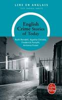 English crime stories of today, Livre